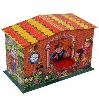 Haus Spardose - Sparkasse - Blechspielzeug - Blechspardose