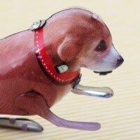Blechspielzeug - Hüpfender Hund aus Blech - Tommy Hopper - Blechhund
