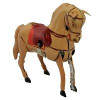 Blechspielzeug - Pferd aus Blech - braun-hellbraun -...