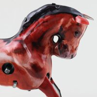 Blechspielzeug - Pferd aus Blech - braun - Blechpferd
