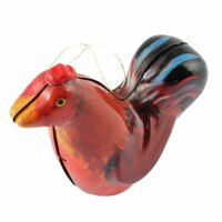 tin trinket - collectable toys - Rooster - red