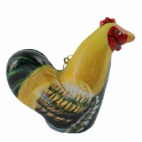 tin trinket - collectable toys - Rooster - yellow