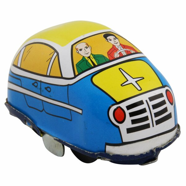 Tin toy - collectable toys - Car Highway - blue
