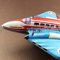 Blechspielzeug - Flugzeug - Stratoliner aus Blech - Blechflugzeug