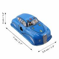 Blechspielzeug - Polizei - Police Car - blau - Polizeiauto