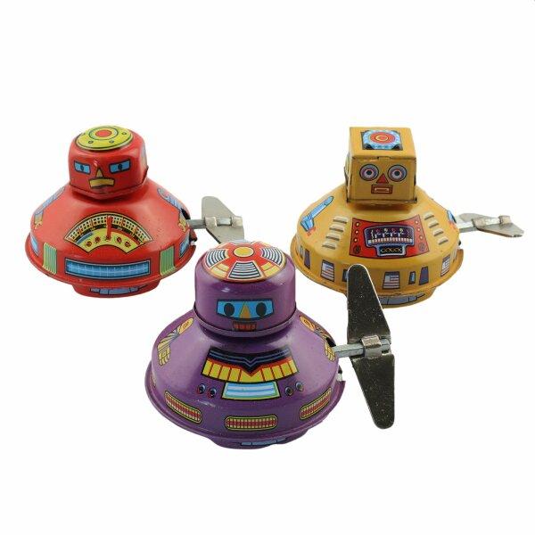 Blechspielzeug - Space Robot 3er Pack - Blechroboter