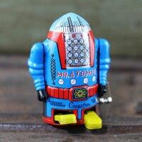 Roboter - Mr. Atomic - blau - Blechroboter