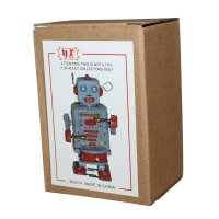Roboter - Robot mit Trommel - blauer Blechroboter