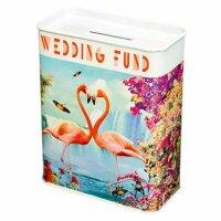 Savings box - Wedding Fund - Flamingo
